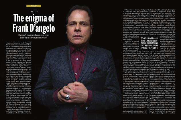 Article Preview: The enigma of Frank D'angelo, March 7 2016 | Maclean's