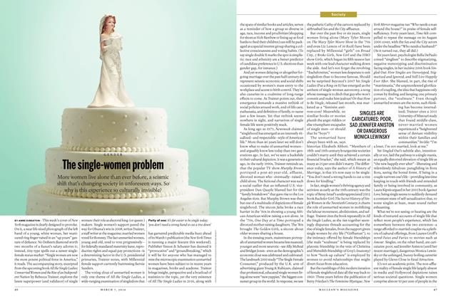 Article Preview: The single-women problem, March 7 2016 | Maclean's