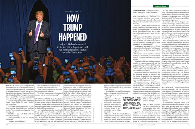 Article Preview: HOW TRUMP HAPPENED, March 14 2016 | Maclean's