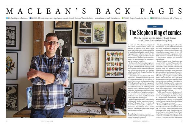 Article Preview: The Stephen King of comics, March 14 2016 | Maclean's