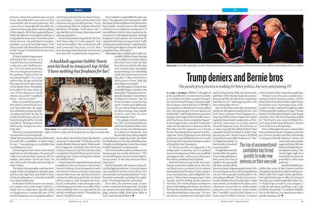 Article Preview: Trump deniers and Bernie bros, March 14 2016 | Maclean's
