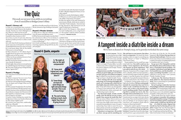 Article Preview: A tangent inside a diatribe inside a dream, March 14 2016 | Maclean's