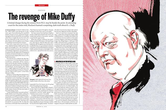 Article Preview: The revenge of Mike Duffy, March 14 2016 | Maclean's