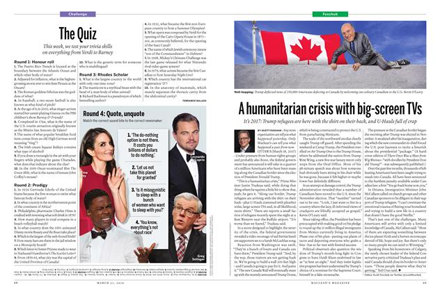 Article Preview: A humanitarian crisis with big-screen TVs, March 21 2016 | Maclean's