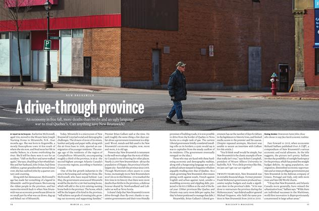 Article Preview: A drive-through province, March 21 2016 | Maclean's
