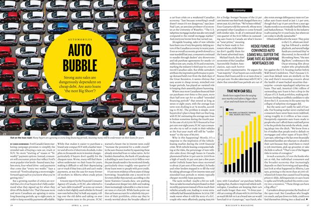 Article Preview: AUTO BUBBLE, April 4 2016 | Maclean's