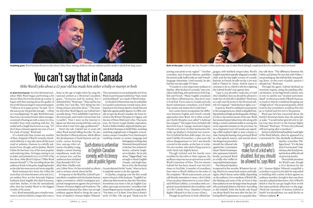 Article Preview: You can't say that in Canada, April 4 2016 | Maclean's
