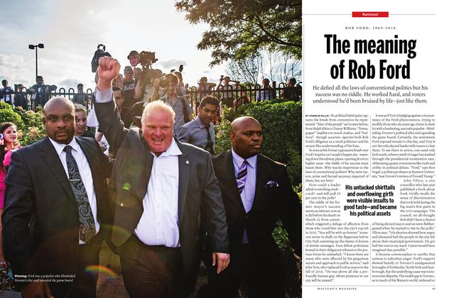 Article Preview: The meaning of Rob Ford, April 11 2016 | Maclean's