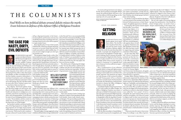 Article Preview: THE COLUMNISTS, April 11 2016 | Maclean's