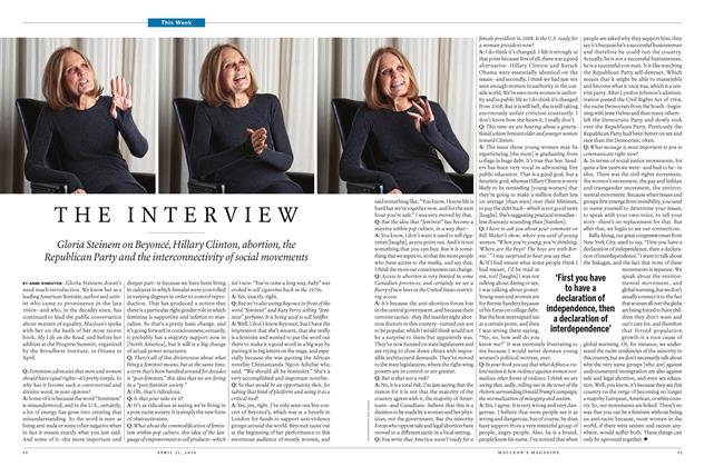 Article Preview: THE INTERVIEW, April 11 2016 | Maclean's