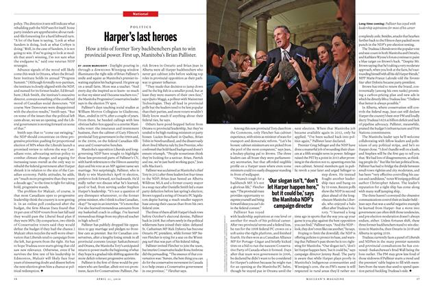 Article Preview: Harper's last heroes, April 11 2016 | Maclean's