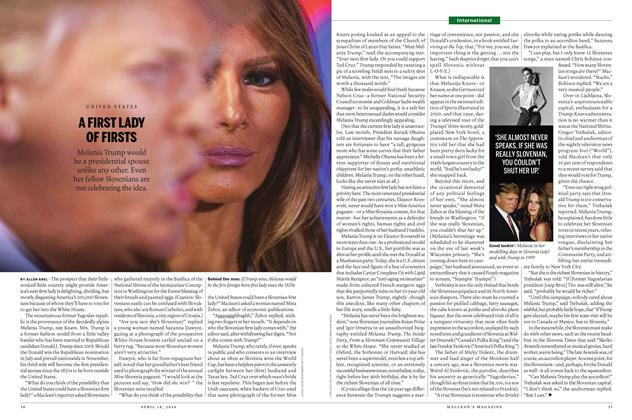 Article Preview: A FIRST LADY OF FIRSTS, April 2016 | Maclean's