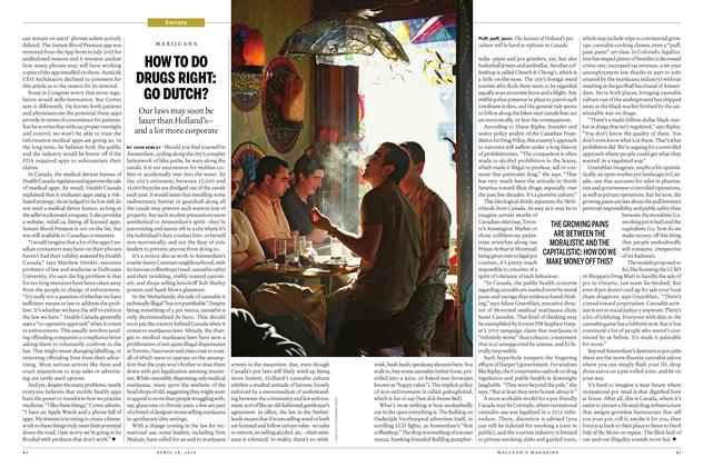 Article Preview: HOW TO DO DRUGS RIGHT: GO DUTCH?, April 18 2016 | Maclean's