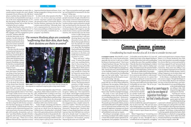 Article Preview: Gimme, gimme, gimme, April 2016 | Maclean's