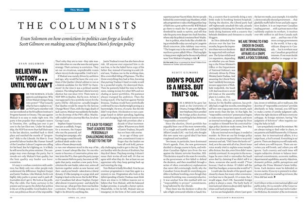 Article Preview: THE COLUMNISTS, April 18 2016 | Maclean's