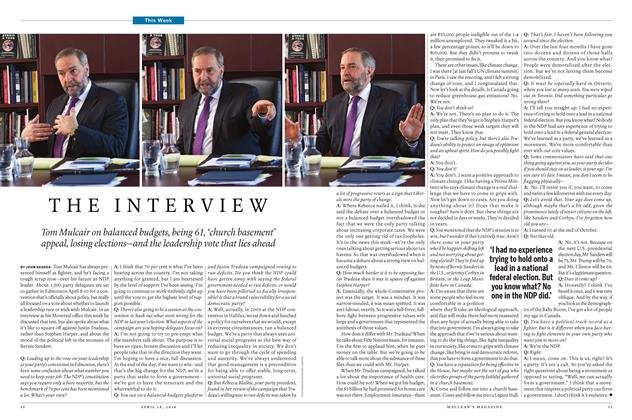 Article Preview: THE INTERVIEW, April 18 2016 | Maclean's