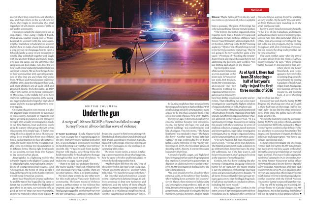 Article Preview: Under the gun, April 25 2016 | Maclean's