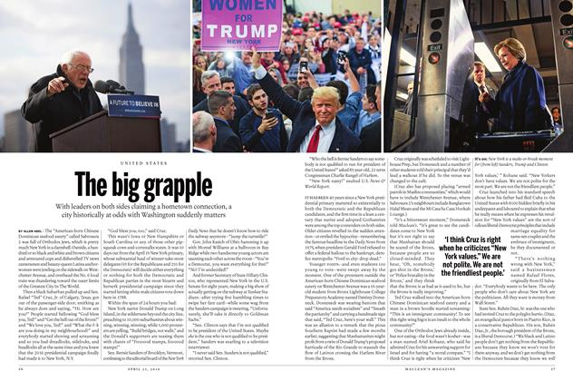 Article Preview: The big grapple, April 25 2016 | Maclean's
