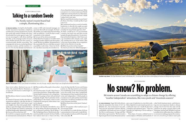 Article Preview: No snow? No problem., April 25 2016 | Maclean's