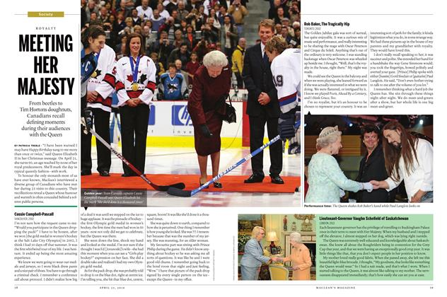 Article Preview: MEETING HER MAJESTY, April 25 2016 | Maclean's