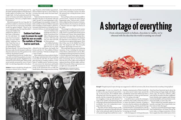 Article Preview: A shortage of everything, May 2 2016 | Maclean's