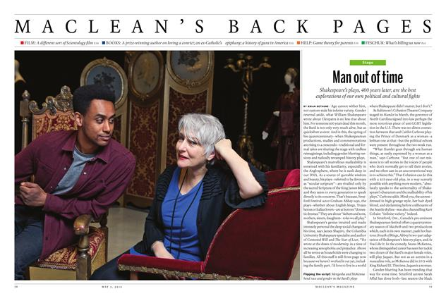 Article Preview: Man out of time, May 2 2016 | Maclean's