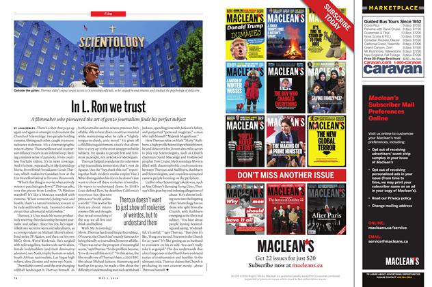 Article Preview: In L. Ron we trust, May 2 2016 | Maclean's