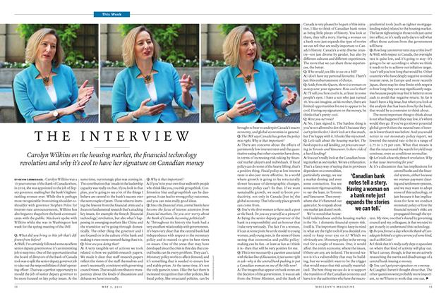 Article Preview: THE INTERVIEW, May 2 2016 | Maclean's