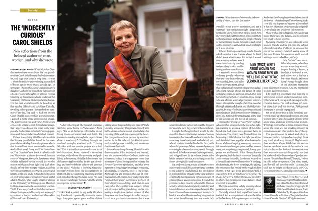 Article Preview: THE 'INDECENTLY CURIOUS' CAROL SHIELDS, May 9 2016 | Maclean's