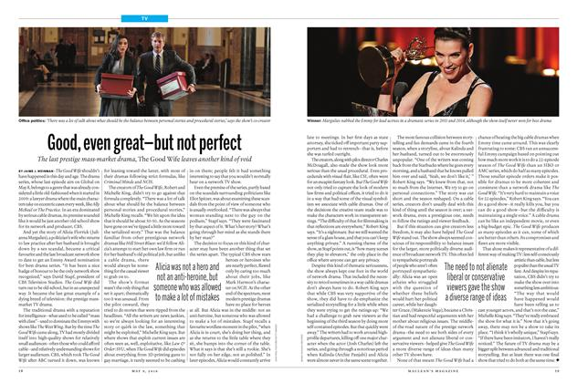 Article Preview: Good, even great-but not perfect, May 9 2016 | Maclean's