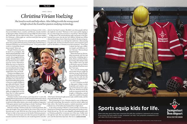 Article Preview: 1992-2016 Christina Vivian Voelzing, May 9 2016 | Maclean's