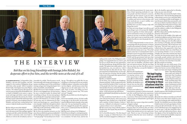 Article Preview: THE INTERVIEW, May 9 2016 | Maclean's