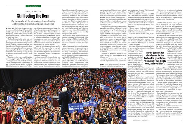 Article Preview: Still feeling the Bern, May 16 2016 | Maclean's