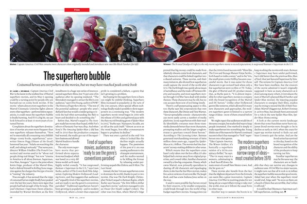 Article Preview: The superhero bubble, May 16 2016 | Maclean's