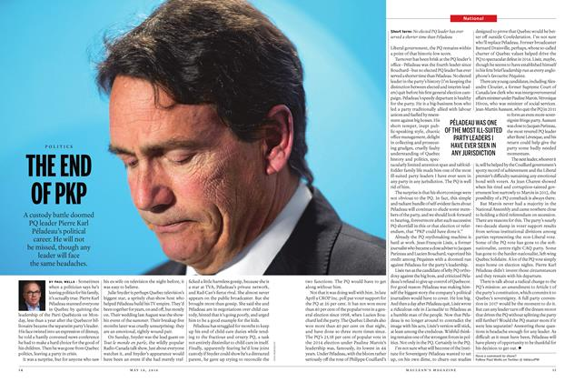 Article Preview: THE END OF PKP, May 16 2016 | Maclean's