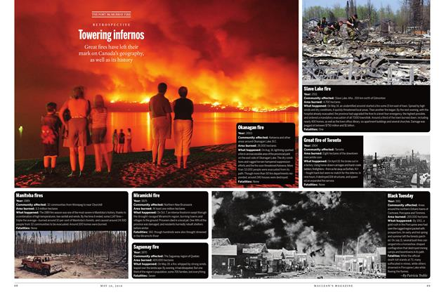 Article Preview: Towering infernos, May 30 2016 | Maclean's
