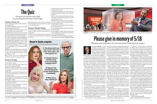 Article Preview: Please give in memory of 5/18, June 6 2016 | Maclean's
