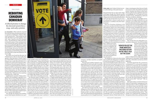 Article Preview: REBOOTING CANADIAN DEMOCRAY, June 20 2016 | Maclean's