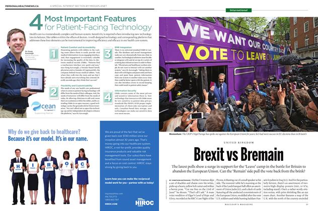 Article Preview: Brexit vs Bremain, June 20 2016 | Maclean's