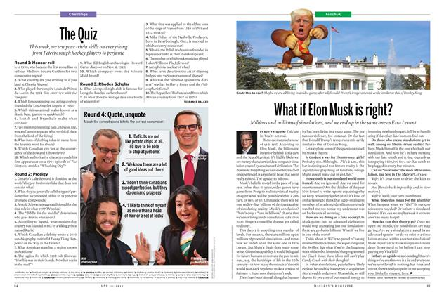 Article Preview: What if Elon Musk is right?, June 20 2016 | Maclean's