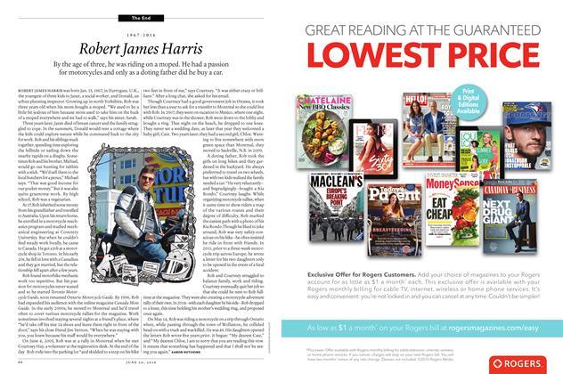 Article Preview: 1967-2016 Robert James Harris, June 20 2016 | Maclean's