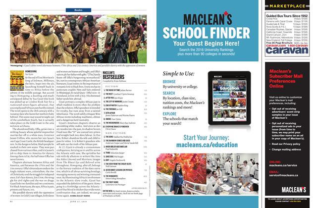 Article Preview: MACLEAN'S BESTSELLERS, June 2016 | Maclean's