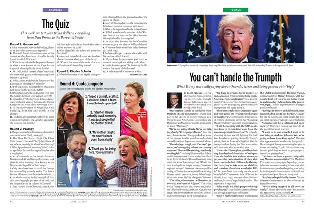 Article Preview: The Quiz, June 2016 | Maclean's