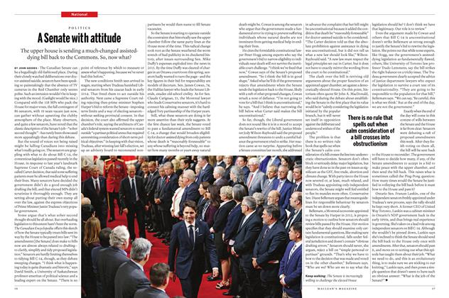 Article Preview: A Senate with attitude, June 2016 | Maclean's