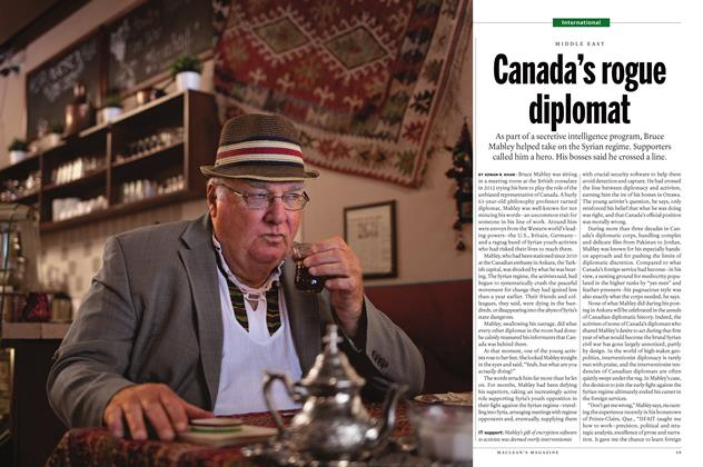Article Preview: Canada's rogue diplomat, July 2016 | Maclean's