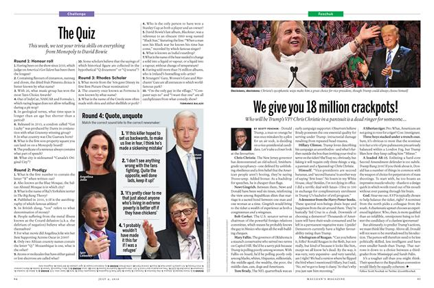 Article Preview: The Quiz, July 2016 | Maclean's