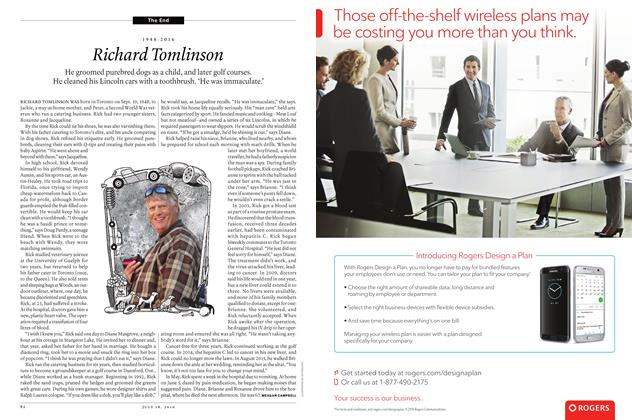 Article Preview: 1948-2016 Richard Tomlinson, JULY 11 & 18 2016 | Maclean's