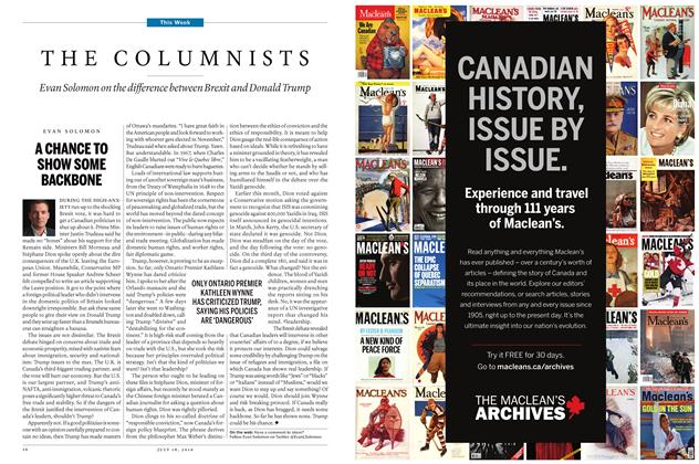 Article Preview: THE COLUMNISTS, JULY 11 & 18 2016 | Maclean's