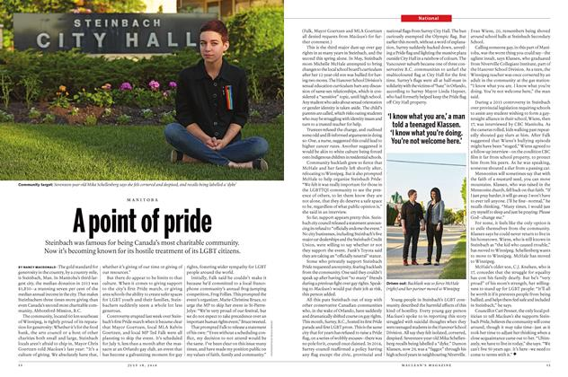 Article Preview: A point of pride, JULY 11 & 18 2016 | Maclean's