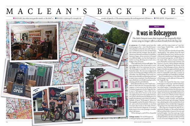 Article Preview: It was in Bobcaygeon, August 1, 2016 2016 | Maclean's